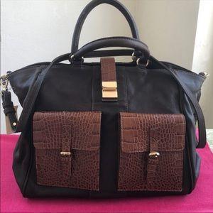 💯 Leather! Via Repubblica over night bag.